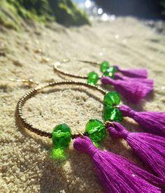 Tassel love <3 #bohemian #medusa #bohoearrings #hoops #handmade #handmadejewelry #gypsyjewelry #gypsylife #statementjewelry #boholife #bohochic #beachjewelry #greece #greekislands #gypsy #nature #crystals #beadedjewelry #freespirit #mermaid #handmadewithlove #gift #earrings #seashell #summeriscoming #summertime #tasselearrings