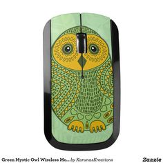 Green Mystic Owl Wireless Mouse