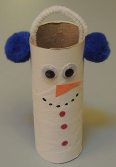 Haveeach childglue a piece of white construction paper around a toilet paper roll. Provide markers, eyes, pipe cleaners, ora...