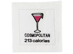213 calories please! We have this and more coaster on our website! Cosmopolitan, Coasters, Cosy, Website, Coaster