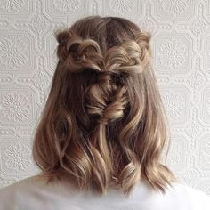 All Tied Up Braided Half Updo