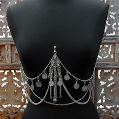 a handy lil number Tribal Belly Dance Coin Bra Drape - clips on to any bra www.scarletslounge.com