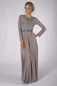 Long Sleeve Maxi Dress - Latte