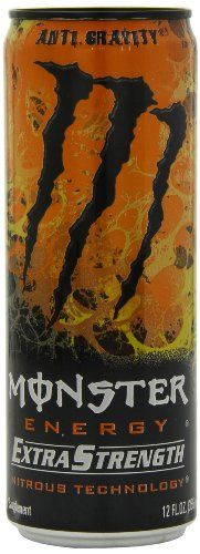 Monster Energy Extra Strength Drink, Anti-Gravity, 12 Ounce (Pack of Non Alcoholic Drinks, Beverages, Baby Food Recipes, Gourmet Recipes, Energy Drink Ingredients, Anti Gravity, Gourmet Gifts, Candy Gifts, Monster Energy