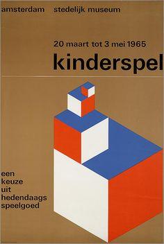 Kinderspel 20 maart tot 3 mei 1965. Een keuze uit hedendaags kinderspeelgoed. Stedelijk Museum Amsterdam.