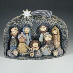 Betlémy Christmas Nativity Set, Christmas Clay, A Christmas Story, Christmas Crafts, Christmas Ornaments, The Nativity Story, Nativity Sets, Clay Owl, Homemade Clay