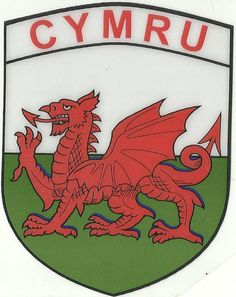 Wales Flag Car Sticker - Shield (Self Cling)