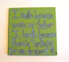 Father Daughter Gift  Dad Quote Father Quote by MadeByTheHearth,