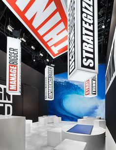 3D Exhibits urged clients to push their programs to a new level and -Think Bigger- by practicing what we preach at EXHIBITORLIVE! Elements included pre-show outreach, ads, guerilla marketing, interactive media, a 16'-high LED wall and super-sized cinnamon rolls.