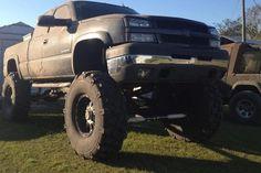 Mudder lifted Chevrolet Silverado truck