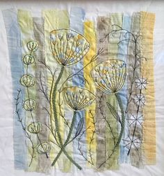 What do you think? Freehand Machine Embroidery, Free Motion Embroidery, Free Machine Embroidery Designs, Embroidery Applique, Embroidery Stitches, Fabric Art, Fabric Crafts, Landscape Art Quilts, Art Du Fil