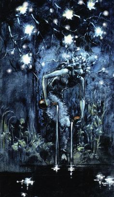 """The Star - Fairy Lights Tarot - """"From Darkness we can emerge with speckles of light to carry us through the cold night. Wicca, Star Tarot, Costa, Love Tarot, Tarot Major Arcana, Cartomancy, Tarot Spreads, Tarot Readers, Oracle Cards"""