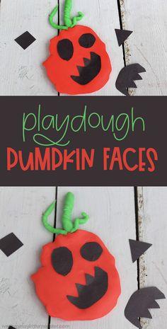 Playdough pumpkin activity for preschoolers Halloween Activities For Kids, Craft Activities For Kids, Preschool Crafts, Halloween Crafts, Childcare Activities, Activity Ideas, Halloween Party, Sensory Play Recipes, Playdough Activities