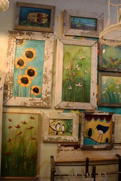 """Today I ran down to The Vintage-Flea to my booth for a little """"fluffing"""". Tonight is the Fall Artwalk, which is always a wonderful time! Tole Painting, Painting On Wood, Encaustic Art, Art For Art Sake, Flower Art, Flower Fairies, Art Plastique, Painting Inspiration, Diy Art"""