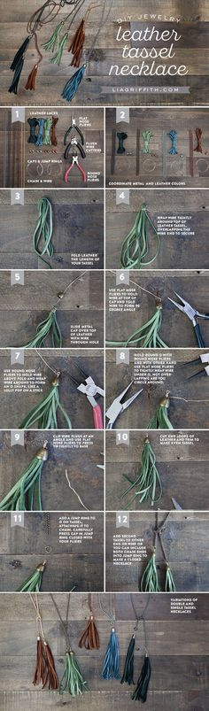 DIY Leather Tassel Necklace how-to by Michaels Makers Lia Griffith                                                                                                                                                                                 Mais