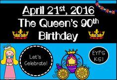 The Queen's 90th Birthday Activity Pack (EYFS/KS1) #eyfs