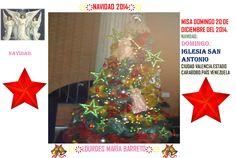 EL ARBOLITO DE LA IGLESIA MISA DOMINGO 20 DE DICIEMBRE DEL 2014. NAVIDAD. DOMiNGO. IGLESIA SAN ANTONIO CIUDAD VALENCIA.ESTADO CARABOBO.PAÍS VENEZUELA