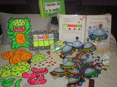 Escuela con Vida: EL marciano Lino se ha perdido Mr Wonderful, Preschool Education, School Items, Kids Patterns, Space Theme, Kindergarten Math, Pattern Blocks, Art Projects, Classroom