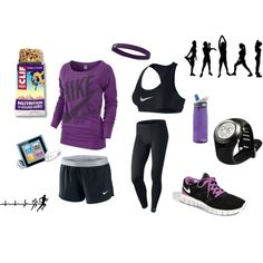 purple + workout clothes = yes please!