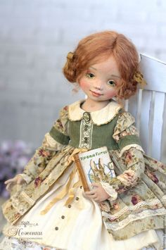 Collectible dolls handcrafted. Annie, textile author's doll. Elena Negorozhenko doll • • sissy. Shop Online Fair Masters.