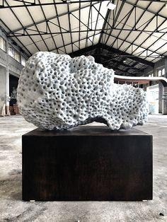 Massimiliano Pelletti Back to Basic 2014 Marmo Statuario di Carrara 140x120 cm