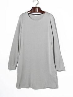 GREEN DALE GARNET - round neck long-sleeved knit dress