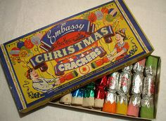 Vintage Christmas crackers