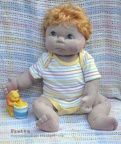 "Fretta: Life size 48 cm / 19"" Soft Sculpture Baby, Child Friendly Cloth Baby Doll."