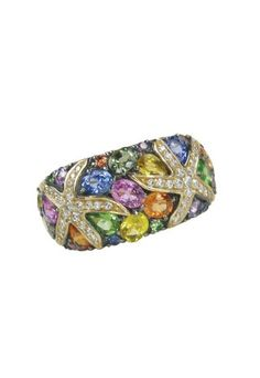 Water Colors Sapphire and Diamond Ring, 3.75 TCW   l  EFFY Jewelry