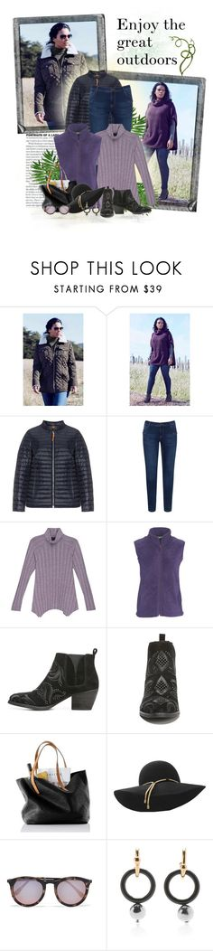 """Get Outside!"" by sharonbeach ❤ liked on Polyvore featuring Polaroid, Frapp, Zizzi, Bobeau, Woolrich, Fergie, Lanvin, Le Specs, Marni and plussize"