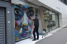 Streetart: David Walker New Murals in Paris // France (9 Pictures   Clip)