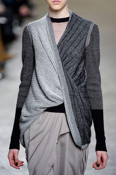 Draped top & skirt in chic neutrals; runway fashion details // Doo.Ri Fall 2012