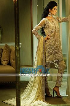 Pakistani Designer Faraz Manan Ivory Bridal Wear Collection 2015