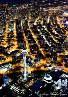 Seattle, Space Needle, Pacific Science Center, Monorail,  Washington