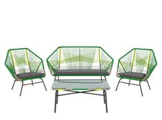 Copa 4-tlg. Lounge-Set, Zitrusgrün