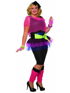 6bed2ba2833 Check out Womens Curvy 80 S Girl Costume from Wholesale Halloween Costumes  Plus Size 80s Costumes