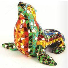 Sea Lion Multi Colored Barcino Figurine