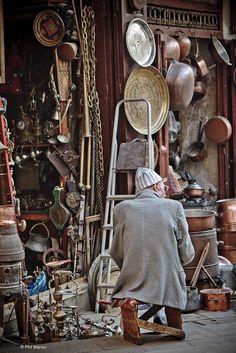 vendor in medina of Fes, Morocco