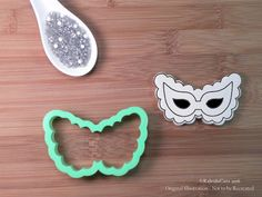 Scalloped Mask Cookie Cutter. New Year Cookie Cutter. Cake Cookie Cutter. Baking Gifts. Fondant Molds. Hat Cookie Cutter.