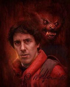 American werewolf in London ❤️ Horror Posters, Horror Icons, Horror Films, Horror Villains, Movie Posters, Scary Movie Characters, Scary Movies, Werewolf Art, Werewolf Tattoo