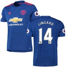 Jesse Lingard Manchester United adidas 2016/17 Away Replica Jersey - Royal