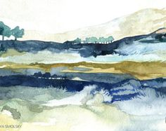 Misty landscape abstract landscape semi by sarahwrightpaintings