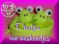 Animals made from washcloths / diertjes gemaakt van washandjes.... free tutorial/gratis patroon ...( E/NL pdf ) greeting/groetjes 10tje from/van 10's Embroidery. www.10embroidery.tk