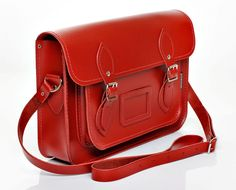 Zatchel, handmade in the UK leather Satchel in so many pretty colours!!! I want the red one!
