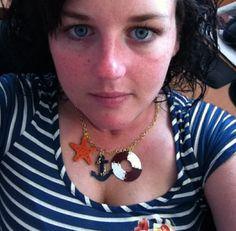 Past competition winner Jess wearing my nautical charm necklace: https://www.etsy.com/uk/shop/MissFluff