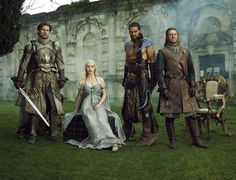 Jaime Lannister, Daenerys, Khal Drogo and Ned Stark from Season One of Game of Thrones.