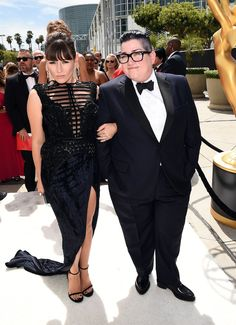 Yael Stone, who plays Lorna Morello (on the left) and  Lea DeLaria, who plays Big Boo (On the Right)