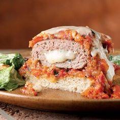 Mozzarella-Stuffed Turkey Burgers - EatingWell.com