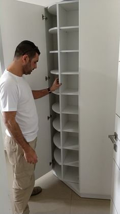 Shoe corner corner -  Corner shoe cabinet, with mirror door, contains between 80-120 pairs, you can see all models / size - #corner #homedecor2019 #homedecorclassy #homedecorsigns #homedecorvideos #Shoe Wardrobe Room, Wardrobe Design Bedroom, Closet Bedroom, Shoe Closet, Space Saving Furniture, Home Decor Furniture, Home Room Design, Home Interior Design, Diy Bedroom Decor