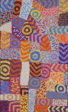 Adrianna Nangala Egan / Yarla Jukurrpa (Bush Potato Dreaming) – Cockatoo Creek 76 x 46 cm